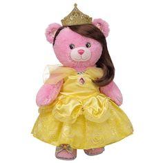 Disney Princess Bear in Belle Costume - Build-A-Bear Workshop US OMG