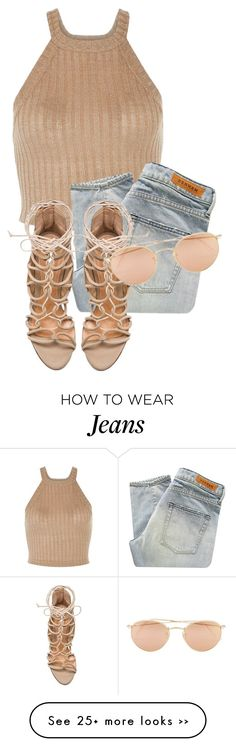 """""""Untitled #2800"""" by xirix on Polyvore featuring Denham, Schutz and Ray-Ban"""