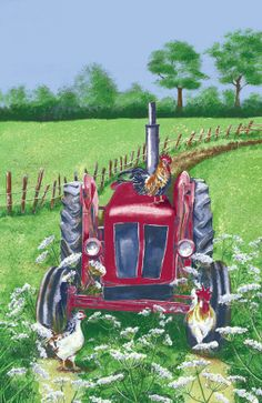 Perfect for lovers of country life! #tractor #country