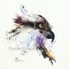 FISH HAWK Osprey Watercolor Print by Dean by DeanCrouserArt