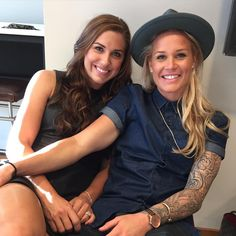 Alex Morgan and Ashlyn Harris