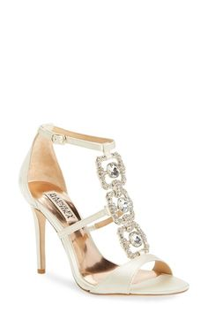 Badgley Mischka 'Allie' Embellished T-Strap Sandal (Women) available at #Nordstrom