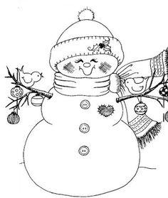 .Smiley snowman