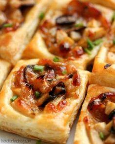 Caramelized Onion, Mushroom, Apple & Gruyere Bites