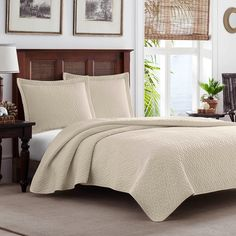 Solid Cross Diamond Quilt Set by Tommy Bahama   from hayneedle.com...70.00 set