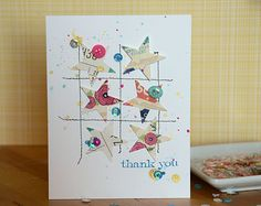 basic card - use scraps and/or washi tape and punches // scrapbook page by May Flaum