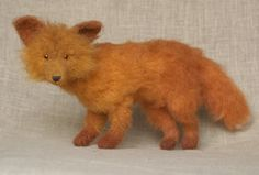 red fox. will some one please buy me one of this artist's needle felted friends!!??