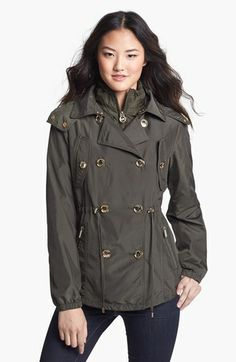 Michael Kors Double Breasted Hooded Anorak