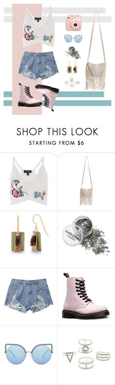 """""""Pretty Little Flowers"""" by deboraaah on Polyvore featuring Topshop, Billabong, Silver Forest, Dr. Martens, Matthew Williamson and Charlotte Russe"""