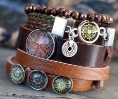 Get the Boho look: Hippe Mandala Basic Cabochons