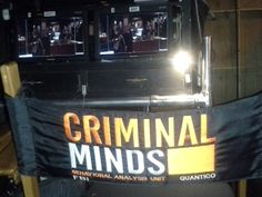 The Director's chair at Criminal Minds and a view of the set through the window. (merletemple.com)