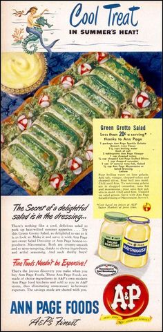 Weekend Event - Hideous Food - Vintage Ads