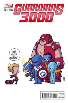Exclusive: The Original Guardians of the Galaxy Face...THAT Question...In Skottie Young Variant Cover For Guardians 3000 #1 | Comicbook.com