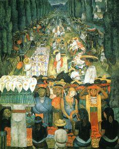 Diego Rivera - Viernes de Lamentos en el Canal de Santa Anita, 1923-1924, Mexico.
