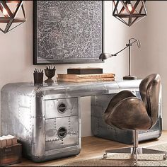 12 Stunning DIY Industrial Decorating Ideas That You Can Create For Your Urban Living Space Industrial Decor Design No. Industrial Chic Decor, Industrial Interior Design, Industrial Interiors, Home Interior, Industrial Decorating, Urban Industrial, Industrial Living, Industrial Bedroom, Industrial Office