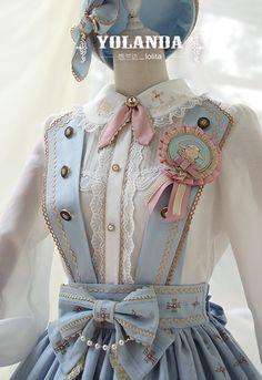 悠兰达||贝妮的草药学||Lolita学院风兔子背带SK(不含徽章)定金-淘宝网全球站