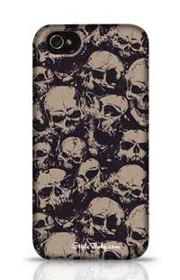 Grunge Pattern With Skulls Apple iPhone 4 Phone Case