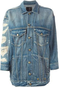 Designer Clothes, Shoes & Bags for Women Oversized Denim Jacket, Japanese Denim, Cotton Jacket, Blazer Jacket, Blue Denim, Jackets For Women, Fashion Outfits, Outerwear Jackets, Sleeves