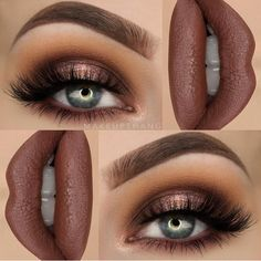 """I really love brown shades --- BROWS: Dipbrow Pomade """"Chocolate"""" ✨ --- EYES: eyeshadow palette for the entire eye look ✨…More Best prom makeup -- makeup ideas for prom or mac prom makeup CLICK Visit link above to read Prom Makeup, Cute Makeup, Pretty Makeup, Wedding Makeup, Pageant Makeup, Movie Makeup, Crazy Makeup, Hair Wedding, Makeup Goals"""