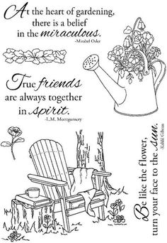 Adirondack & Flowers - Clear Stamps