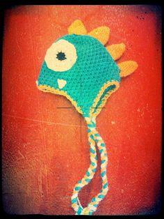 Dinosaur crochet Hat by TheLovelyyarns on Etsy, $20.00