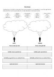 Free Printable Worksheets On Genders