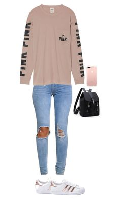 """""""Untitled #2605"""" by anisaortiz ❤ liked on Polyvore featuring Victoria's Secret and adidas"""