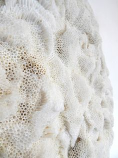 In love with the work of multi-media sculptor Rowan Mersh. These textures give me goose bumps. Textile Texture, Texture Art, Sea Texture, White Texture, Patterns In Nature, Textures Patterns, Textiles, White Aesthetic, Fabric Manipulation