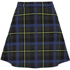 Etre Cecile Plaid neoprene mini skirt ($88) ❤ liked on Polyvore featuring skirts, mini skirts, army green, tartan plaid mini skirt, tartan mini skirt, short plaid skirt, olive skirt and plaid skirt