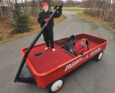 Alaska Couple Converts Pickup Truck To World's Largest Radio Flyer Wagon  ... see more at InventorSpot.com