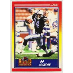 1990 BO JACKSON SCORE NFL TRADING CARD #591, LA Raiders. Buy it on ebid Canada.