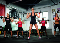 Pump it up with Les Mills PUMP -- BodyPump at home!