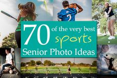 Senior Portraits Sports Ideas (Click to see them all) Includes: Baseball, Softball, Basketball, Track, Wrestling, Cheerleading, Volleyball, Dance, Golf, and Football!