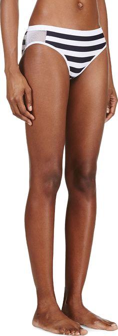 T by Alexander Wang white striped mesh detail bikini bottom | reg $195, sale $98
