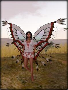 Faeline Fairy Wings - Riko (carmine)
