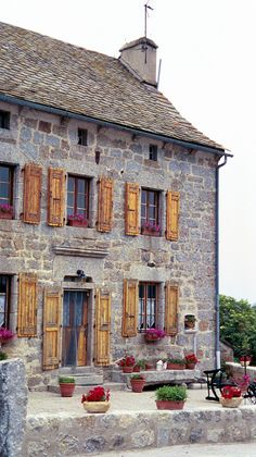Charming and colorful French Stone Farmhouse- this is our new idea for the style of the house!