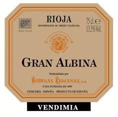 Gran Albina Vendimia #Rioja #wine
