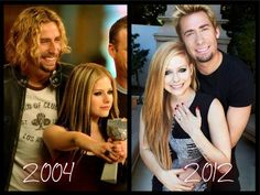 Fan Art of Avril & Chad  for fans of Avril Lavigne. 2004 and 2012