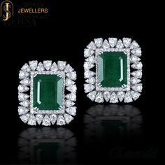Dazzle the world with this stunning pair of emerald earrings from http://sehdevjewellers.com/