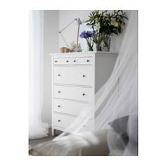 HEMNES 6-drawer chest - white stain - IKEA
