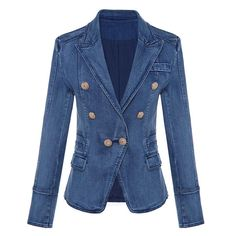Open-Minded Newest Fall Winter 2019 Designer Blazer Jacket Womens Lion Metal Buttons Double Breasted Synthetic Leather Blazer Overcoat Women's Clothing