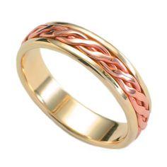 Celtic Plait Inlaid Wedding Band Plait, Celtic, Wedding Bands, Rings For Men, Gems, Engagement Rings, Jewels, Crystals, Enagement Rings