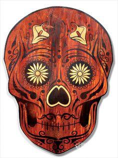 Day Of The Dead Art Skull Face
