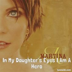 "-- #LyricArt for ""In My Daughter's Eyes"" by Martina McBride"