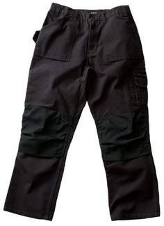 Blaklader Workwear Bantam Pant with out Utility Pockets 34-Inch Waist 34-Inch Length 8-Ounce Cotton - Black