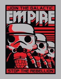 Star Wars Join the Galatic Empire Stormtrooper Pop Tee by Funko, FYE exclusive