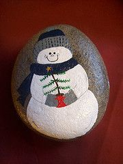 painted rock. cute and easy.