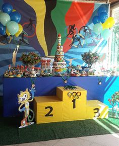 Festa das Olimpíadas para 10 anos - Amarelo Ouro Olympic Idea, Theme Sport, Gymnastics Party, Sports Party, Fathers Day Crafts, Camping Crafts, Project Nursery, Grad Parties, Recycled Art
