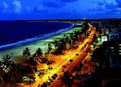 Orla à noite. #João Pessoa - Paraíba - Brasil. O paraíso é aqui!