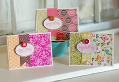 Video contained in the post showing how to mix patterned papers effectively